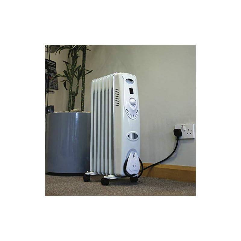 Sealey RD1500 Oil Filled Radiator, 1500W/230V, 7 Element, White