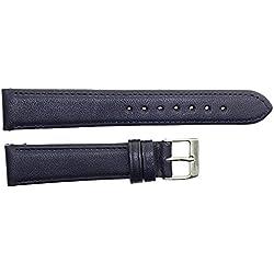 Uhrenarmband echt Leder 18mm königsblau Dornschließe 410923
