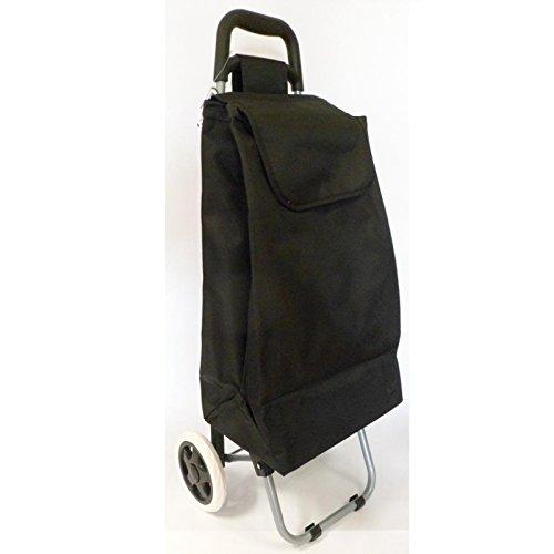 Chariot de marché uni noir - 117012