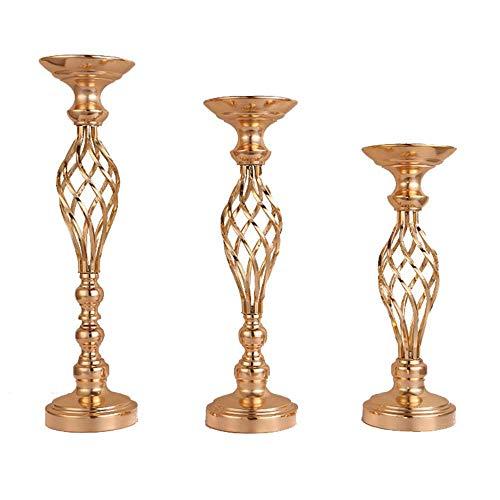 idenschaftlicher Truthahn 1pcs Metall Blumen Vasen Kerzenhalter vergoldet Eisen Kerzenhalter Hochzeit Kandelaber Hauptdekoration, 46cm ()