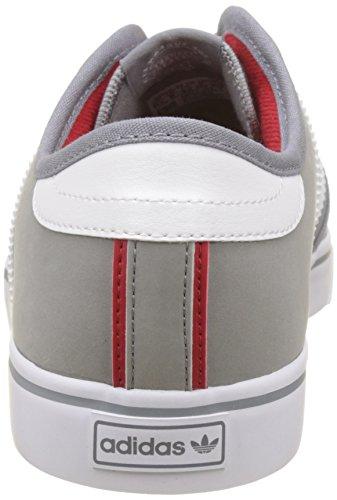 adidas Unisex-Erwachsene Seeley Sneakers Grau (Grey/footwear White/scarlet)