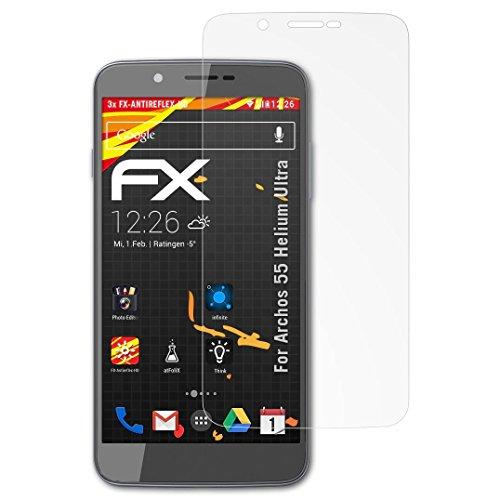 atFolix Schutzfolie kompatibel mit Archos 55 Helium Ultra Bildschirmschutzfolie, HD-Entspiegelung FX Folie (3X)