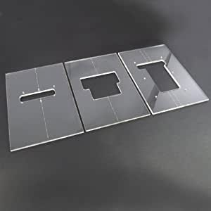 Acrylic floyd rose router template set for Floyd rose routing template