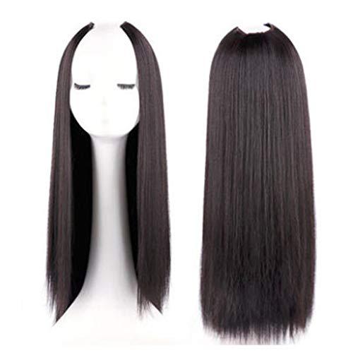 Mageelian peluca forma U media cabeza conjunto femenino