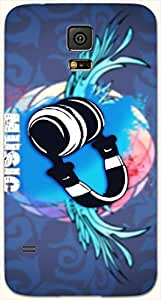 Dazzling multicolor printed protective REBEL mobile back cover for Samsung Galaxy S5 / SM-G900I D.No.N-L-14953-S5