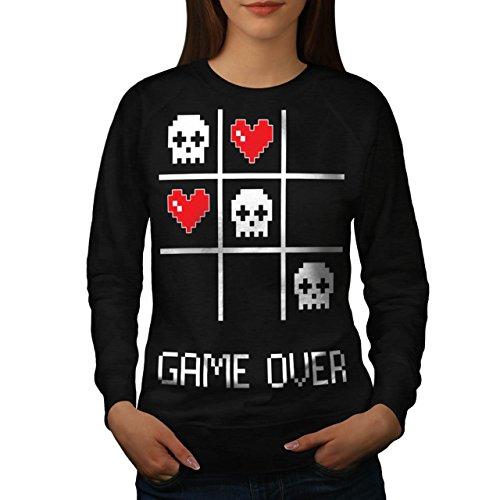 spiel-nerd-computer-geek-damen-neu-schwarz-s-sweatshirt-wellcoda