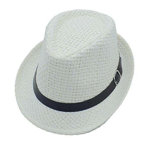 20140ed11b279 JEEDA Panama Style Summer Beach Jazz cap Unisex Adulti Sun Hat Solid Color  Elegant Straw Jazz