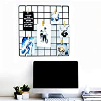 PIKIFY DIY Steel Grid Photo Frame for Wall [40 * 40 cm] Clip Holder Photo Frame,Multi Functional Creative Mesh Wall Grid…