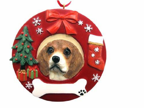 E & S Pets personalisierten Beagle Ornament handbemalt Maßnahmen 9,5cm in Durchmesser