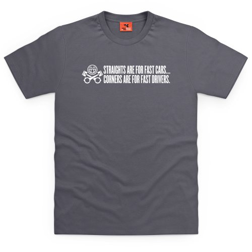 PistonHeads Straights T-Shirt, Herren Anthrazit