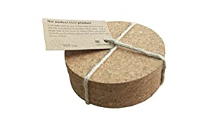 Eco Round Cork Coasters - Set of 4