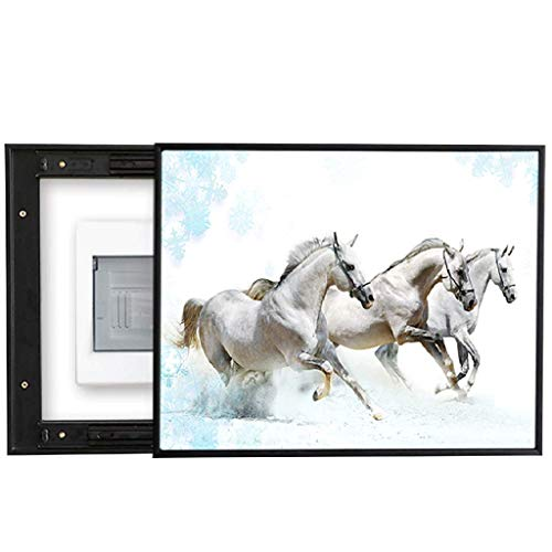Dbxiang Stromzähler-Kasten-dekorative Malerei rechts Push-Pull-modernes Zebra-Kunst-Muster für Schlafzimmer-Restaurant-Korridor-Wand, schwarze materielle Grenze PS ( Size : ( 60*50cm 45*40cm) ) -