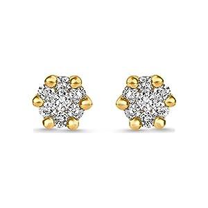 CHRIST Diamonds Damen-Ohrstecker Weißgold/gold Diamant One Size Gold 32002314