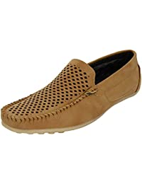 WELLING Fashionable Tan Synthetic Loafers
