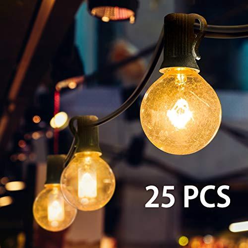 Mture Lichterkette Glühbirne, G40 Globe Lichterkette für Außen Garten Lichterkette, Innen-und Außen Deko Glühbirne für Zuhause, Party, Weihnachten, Garten, Hochzeiten (Energieklasse A ) -