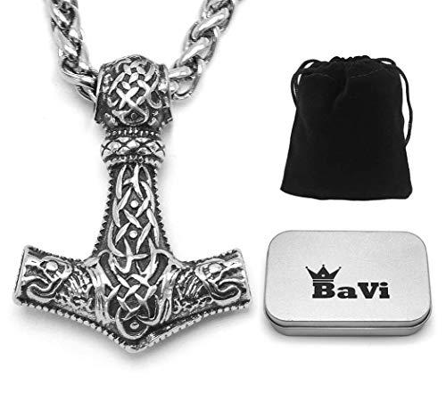 BaviPower Mjolnir - Collar Colgante Martillo