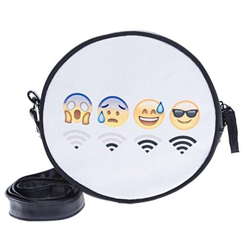S Fringoo Damen Clutch mehrfarbig Emoji WiFi Emoji Gangsta RRUCpxw