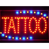 LAMPE NEON ENSEIGNE LUMINEUSE LED led007-r Tattoo Ship OPEN LED Neon Business Light Sign