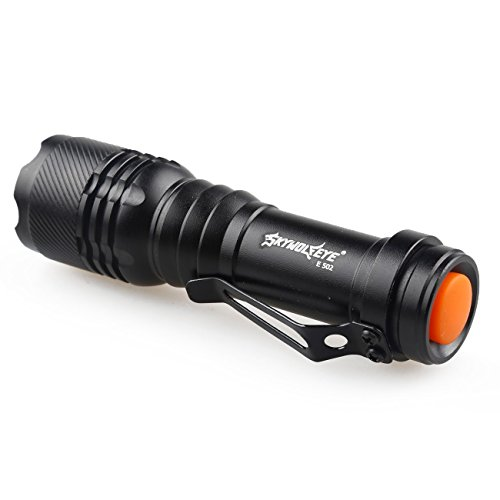Mini-Flashlight-Rcool-2000LM-CREE-Q5-3-Modes-LED-Torch-Zoomable-AA14500-Battery-Not-Included-Black