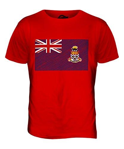 CandyMix Cayman Islands Kritzelte Flagge Herren T Shirt Rot