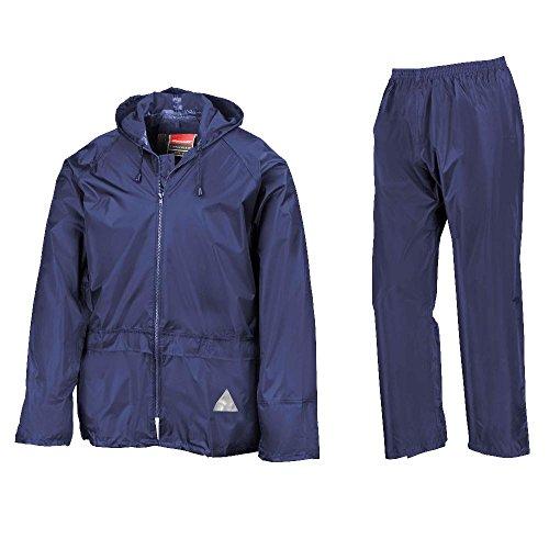 Result Herren Regenmantel Heavyweight Waterproof Jacket & Trouser Set Royal