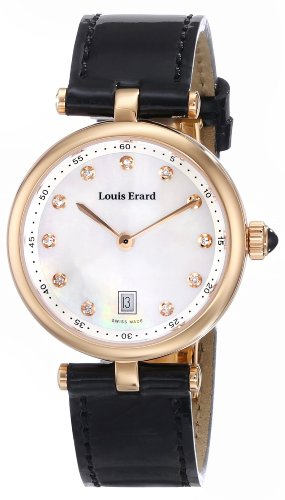 Louis Erard Women's 10800PR24.BRCA2 Romance Analog Display Quartz Black Watch
