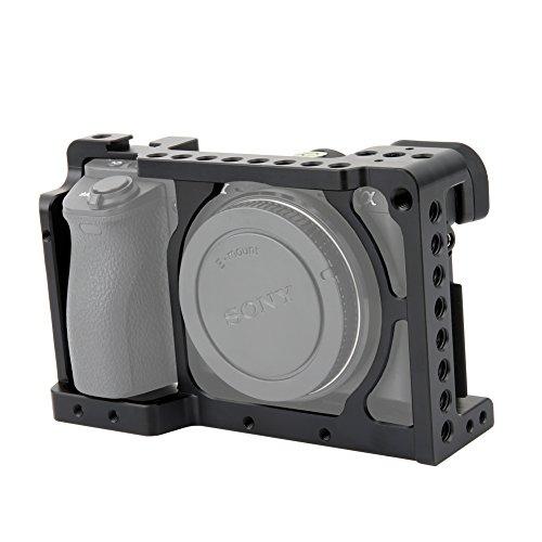 """NICEYRIG Aluminio Cámara Jaula para Sony A6400 A6000 A6300 NEX7 con 1/4\""""Rosca y Zapata fría"""