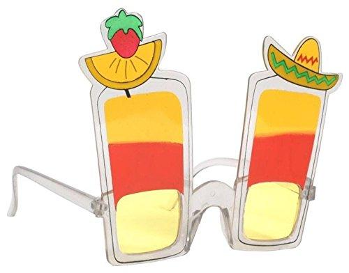 Gifts 4 All Occasions Limited SHATCHI-853 - Gafas de sol hawaianas para cóctel, accesorio para despedida de soltera, accesorios para disfraces, Mutli