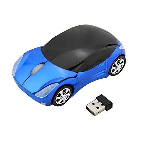 bloatboy Kabellose Maus - Mini Auto-Funkmaus 2.4G USB Mute Funk Computermaus für Laptop/PC/Smart TV/Tablets/Handy (Blau)