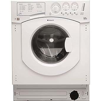 Hotpoint BHWM129 Intégré Charge avant 6.5kg Blanc machine à laver - machines à laver (Intégré, Charge avant, Blanc, 6,5 kg, A, B)
