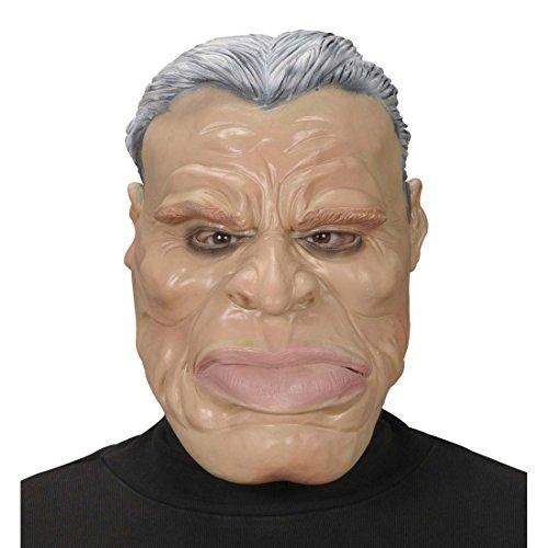Amakando Latexmaske Actionheld Filmstar Maske Arnold Promi Karnevalsmaske Terminator Faschingsmaske Halloweenmaske Mann Herrenmaske Politiker Maske