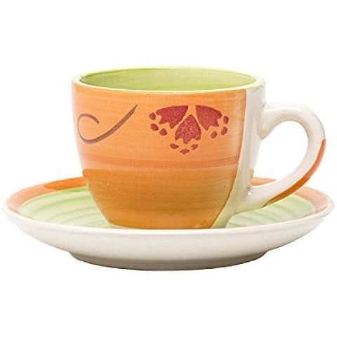Set da caffè KASANOVA, con piattino, 6