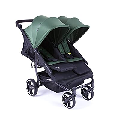 NUEVA Silla Gemelar Easy Twin 3.0.S con capota reversible de paseo Baby Monsters - Color Forest + REGALO de dos mantas para silleta
