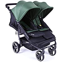 NUEVA Silla Gemelar Easy Twin 3.0.S con capota reversible de paseo Baby Monsters - Color Forest + REGALO de dos mantas para silleta