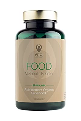 Food - Spirulina Superfood Metabolic Booster. Pure Spirulina Pills. 300 Veggie Tablets. from Vital Concept
