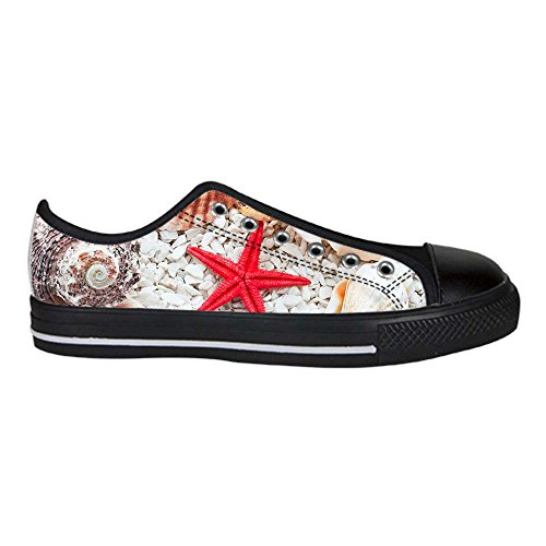 Dalliy Beach Starfish Hommes Toile Chaussures Chaussures À Lacets Haut Haut Sneakers Voile Tissu Chaussures Toile Chaussures Sneakers B