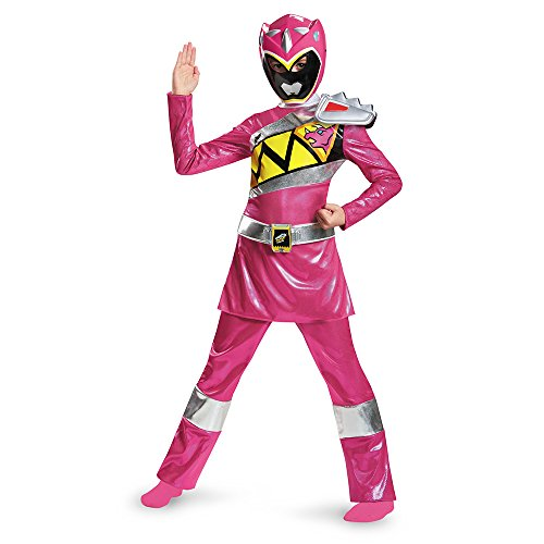 Power Rangers Dino Charge Pink Deluxe Child Costume 7-8 (Kinder Pink Power Ranger Kostüm)