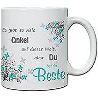 """Thermobecher Kaffeebecher Lama Spruch Becher bedruckt /""""Coolster Onkel.../"""" tb110"""
