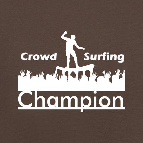 Crowd Surfing Champion - Herren T-Shirt - 13 Farben Schokobraun
