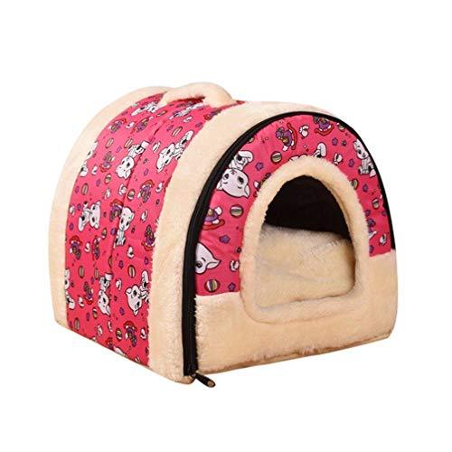 JEELINBORE 2 en 1 Casa y Sofá para Mascotas Lavable Plegable Suave...