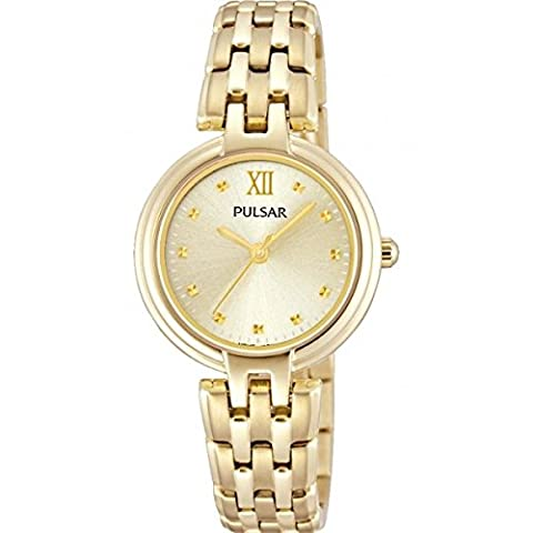 Pulsar Watches Ladies' Gold Tone Classic Dress Watch With Gold Dial