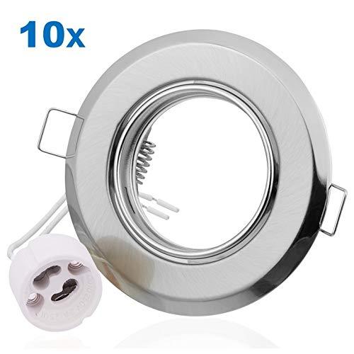 VARA 10x foco empotrable para bombillas GU10, pivotante/spot empotrado/difusor, luces spot/luces spot