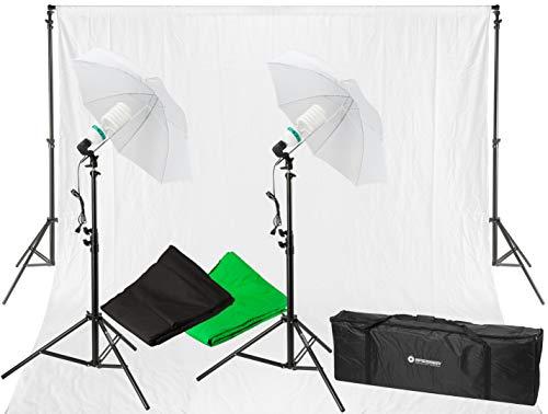 Bresser Tageslicht-Set mit Lampenstativ und Lampe, 900W schwarz