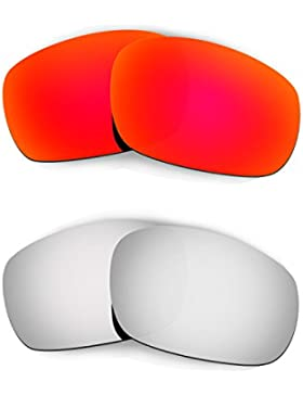 Hkuco Mens Replacement Lenses For Oakley Racing Jacket Red/Titanium Sunglasses
