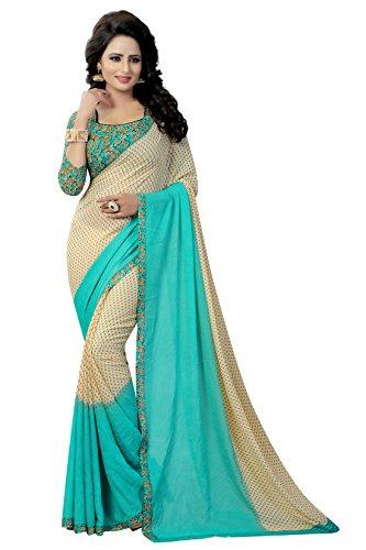 Rangrasiya Georgette Saree With Blouse Piece (Sg122116_Rama Beige_Free Size)