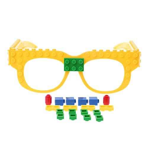 JERKKY Gläser Blöcke Grundplatte DIY Spielzeug Brillengestell Ziegel Kompatibel mit Legoed Red