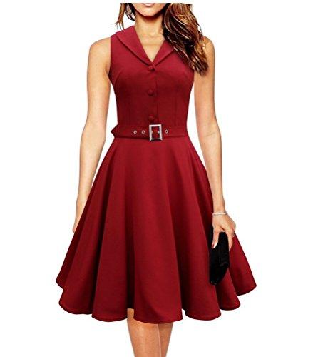 Brinny 50er Jahre VintageKleid Retro Audrey Hepburn Rockabilly Kleid ...