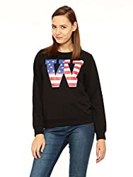 Vvoguish Black Printed Sweatshirt-VVSWTSHT939BLK-XL