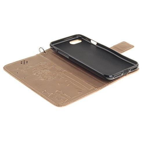 iPhone Case Cover Normallack PU-lederner Fall-Löwenzahn-Geliebt-prägender Fall-Mappen-Standplatz-Fall für iPhone 7 ( Color : 2 , Size : IPhone 7 ) 2