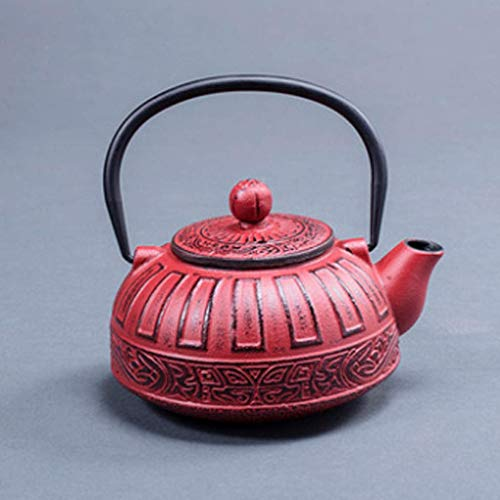 TEA Japanische Gusseisen Tetsubin Gusseisen Teekanne Japanische Asiatische Art - 4 Schwarzes Braunes Rotes Silber, Teekanne 1, a